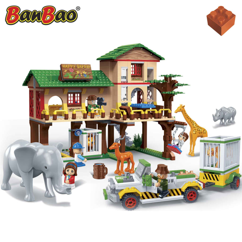 BanBao-Safari-Lodge-Konstruktion-Spielzeug-Bausteine-6651