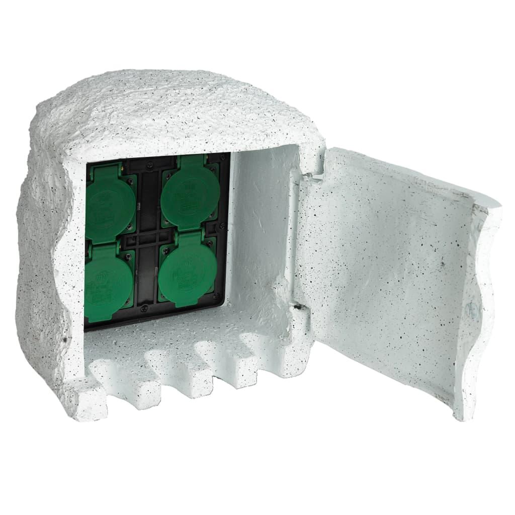 Acheter bloc de 4 prises ext rieures de jardin avec protection pas cher - Prise de courant jardin ...