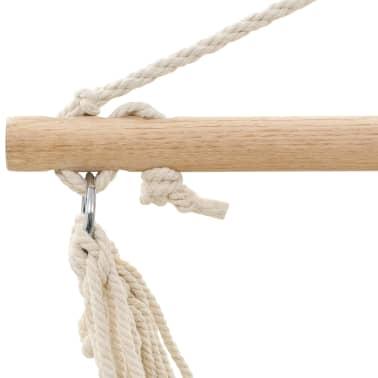 Fotel hamakowy biały z bawełny[3/3]