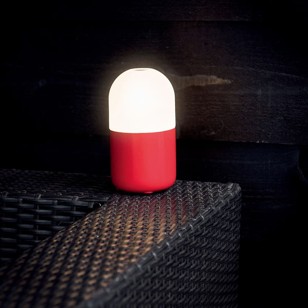 smooz led night light table lamp bean red 4508001. Black Bedroom Furniture Sets. Home Design Ideas