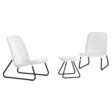 la boutique en ligne salon de jardin rio blanc keter 17197637. Black Bedroom Furniture Sets. Home Design Ideas