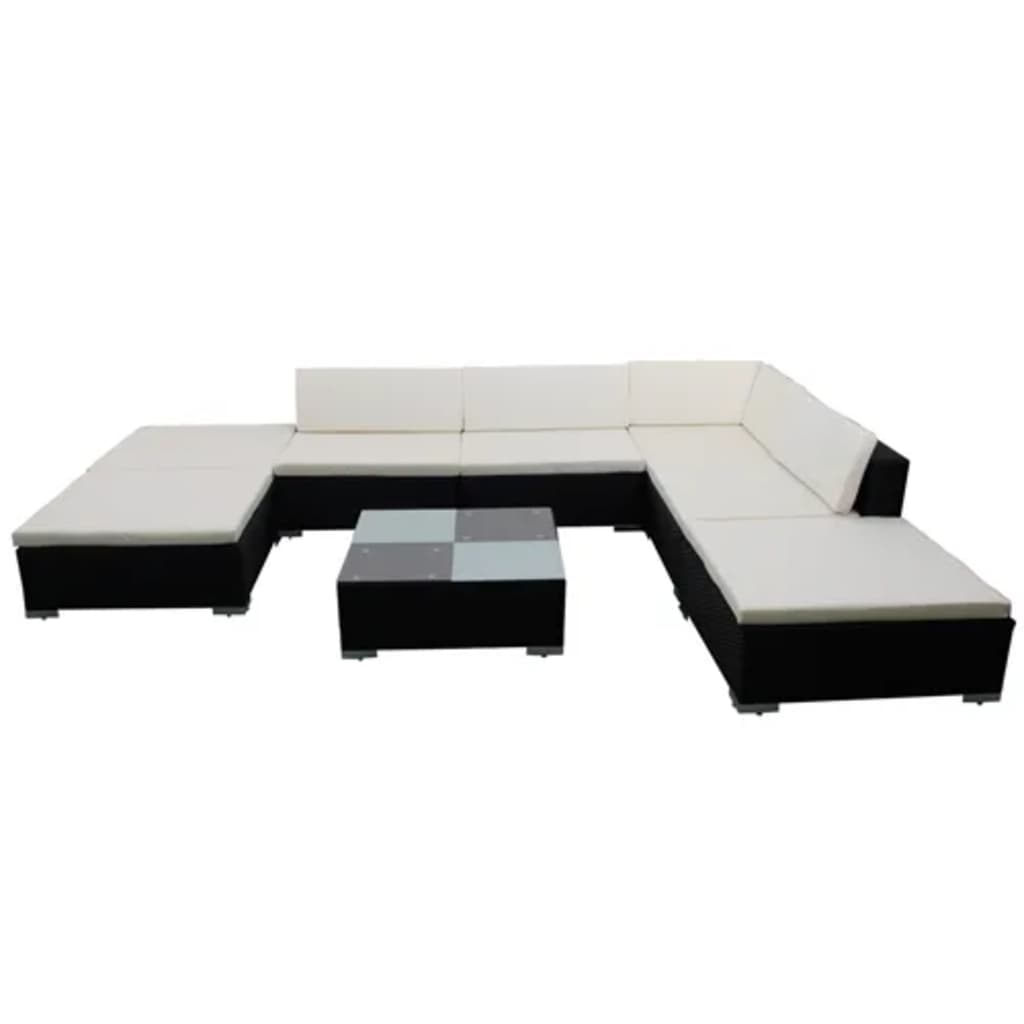 gartenm bel poly rattan lounge set garnitur. Black Bedroom Furniture Sets. Home Design Ideas