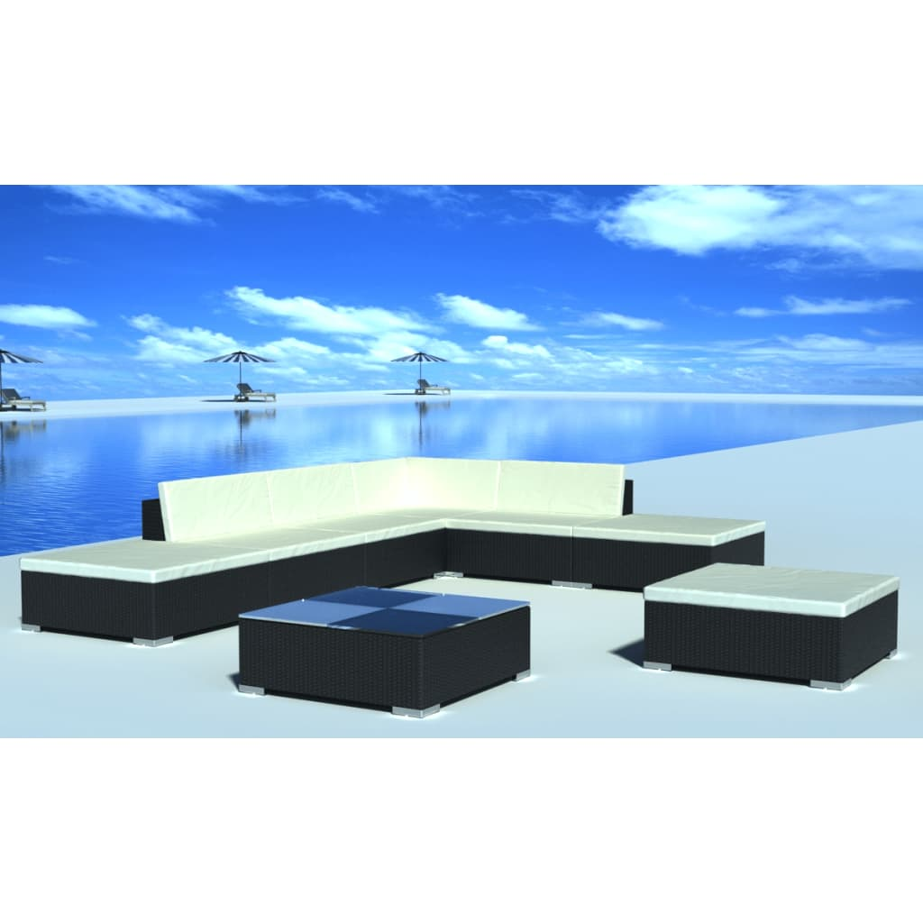 der gartenm bel poly rattan lounge set garnitur online shop. Black Bedroom Furniture Sets. Home Design Ideas