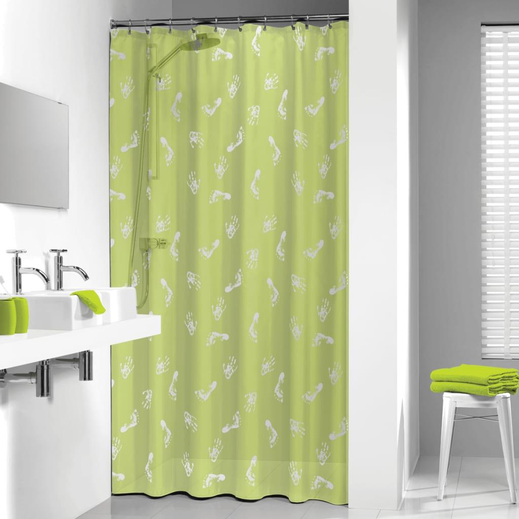 Sealskin Bathroom Shower Curtain Standard Waterproof Amy 180 cm Lime ...