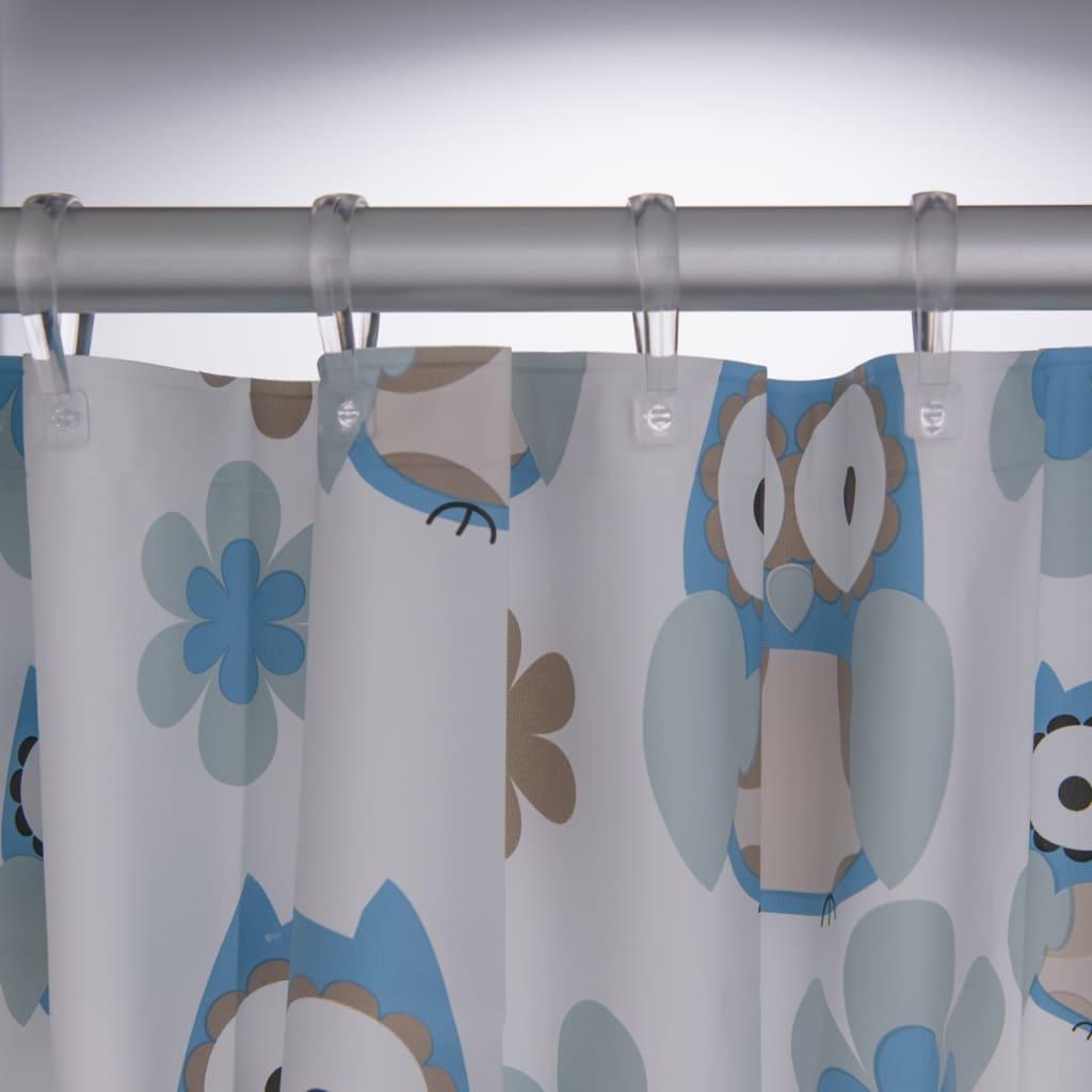 Rideau de douche baignoire pour salle de bain owl de - Rideau pour salle de bain ...
