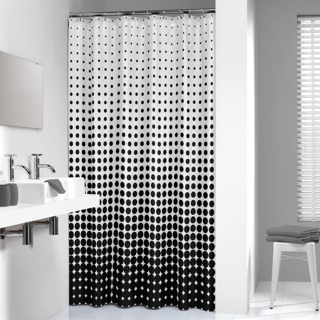 der sealskin duschvorhang speckles 180 cm schwarz. Black Bedroom Furniture Sets. Home Design Ideas