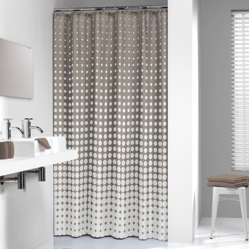 Sealskin Shower Curtain Speckles 180 cm Taupe