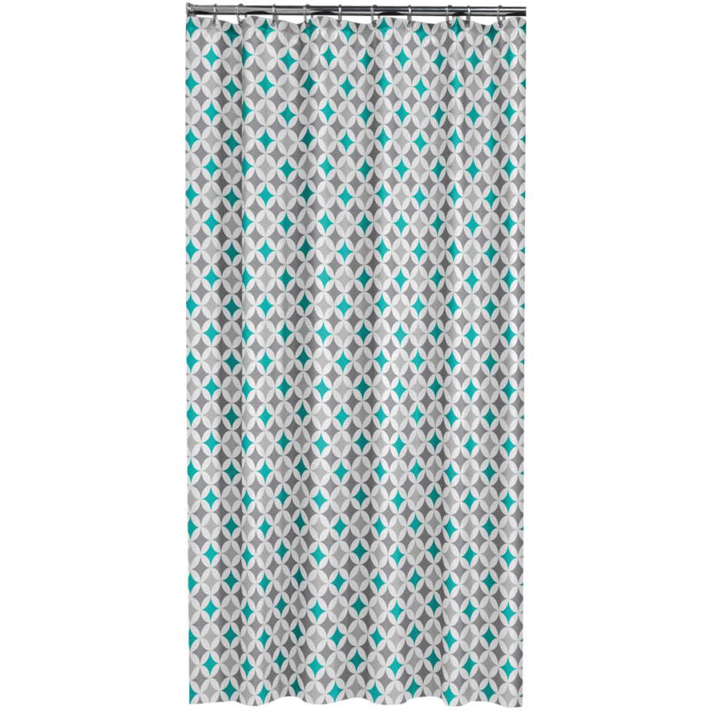 Afbeelding van Sealskin douchegordijn Diamonds 180 cm aquablauw 235201330