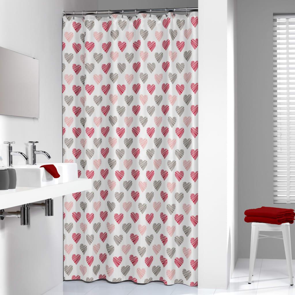 acheter rideau de douche amor de sealskin 180 cm rouge. Black Bedroom Furniture Sets. Home Design Ideas