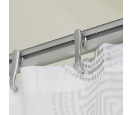 Barre en aluminium pour le rideau de douche sealskin 276623005 - Barre pour rideau de douche ...