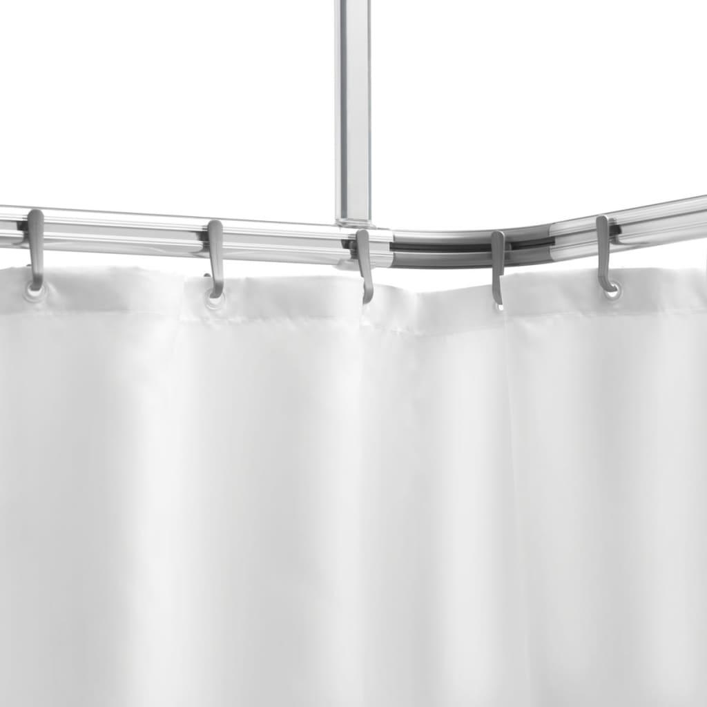 Acheter barre en aluminium pour le rideau de douche for Barre pour rideau de douche