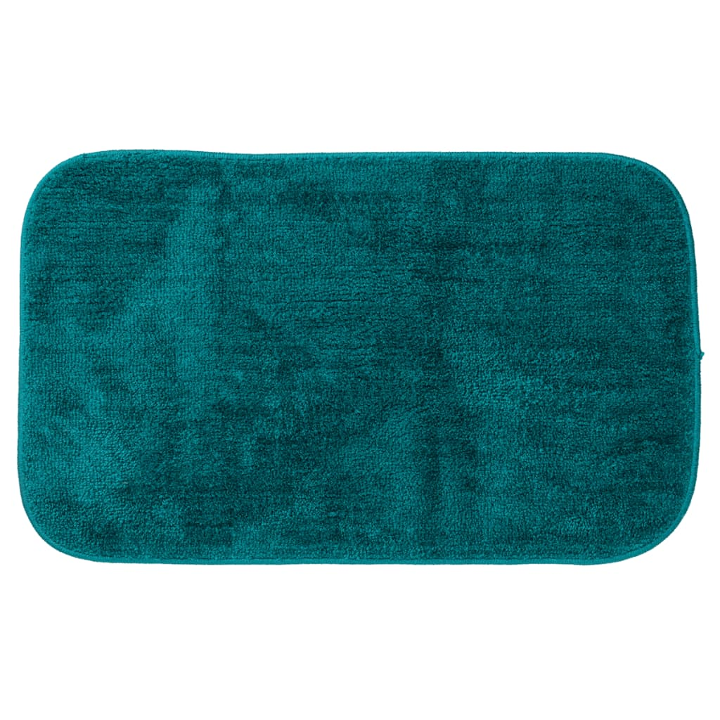 Alfombra de ba o doux sealskin color turquesa 294425426 for Alfombra verde turquesa