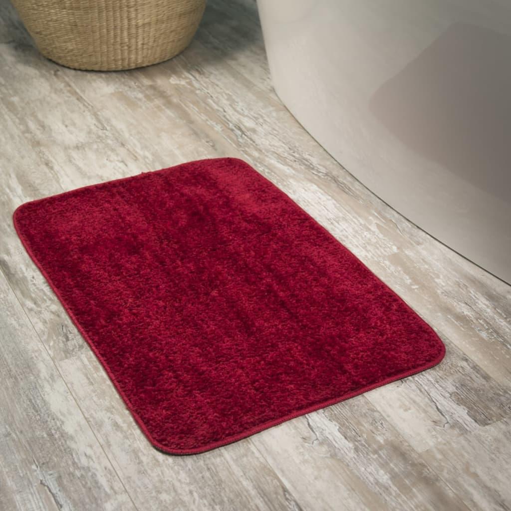 Alfombra de ba o doux sealskin roja modelo 294425459 50 x - Alfombras para bano ...
