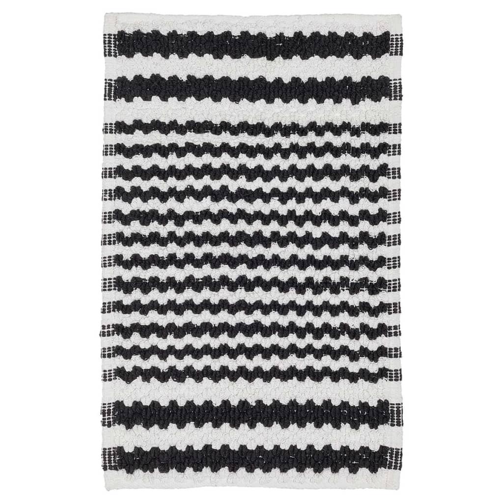 Sealskin Motif Badmat 80x50cm katoen zwart wit gestreept