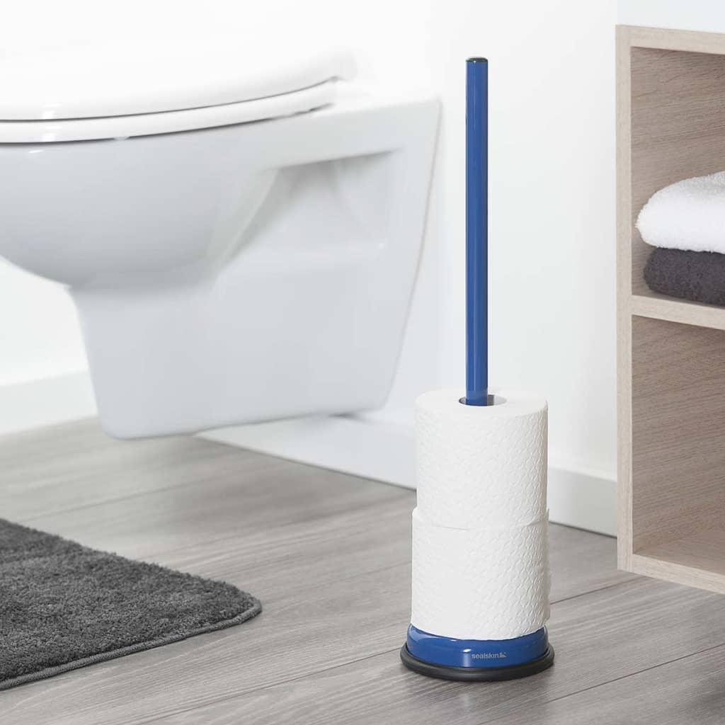 acheter sealskin porte rouleau papier toilette bleu acero 361731824 pas cher. Black Bedroom Furniture Sets. Home Design Ideas