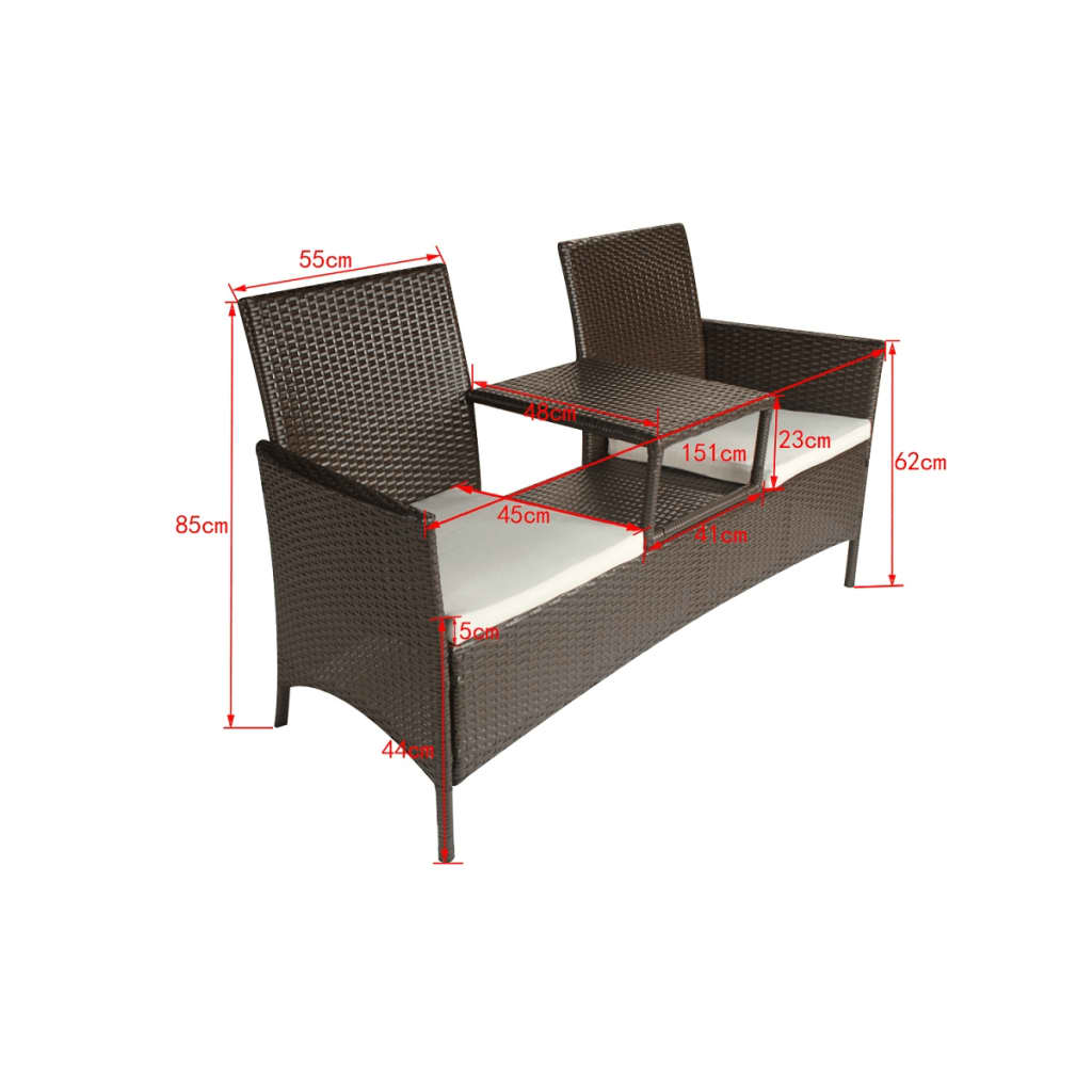 der poly rattan gartenm bel gartenset braun online shop. Black Bedroom Furniture Sets. Home Design Ideas