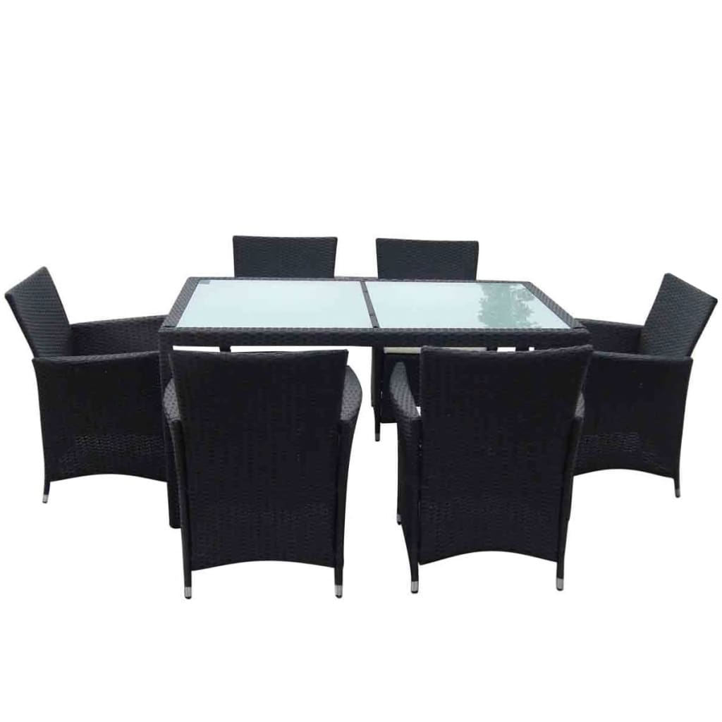 la boutique en ligne salon de jardin complet r sine tress e 1 table 6 fauteuils. Black Bedroom Furniture Sets. Home Design Ideas
