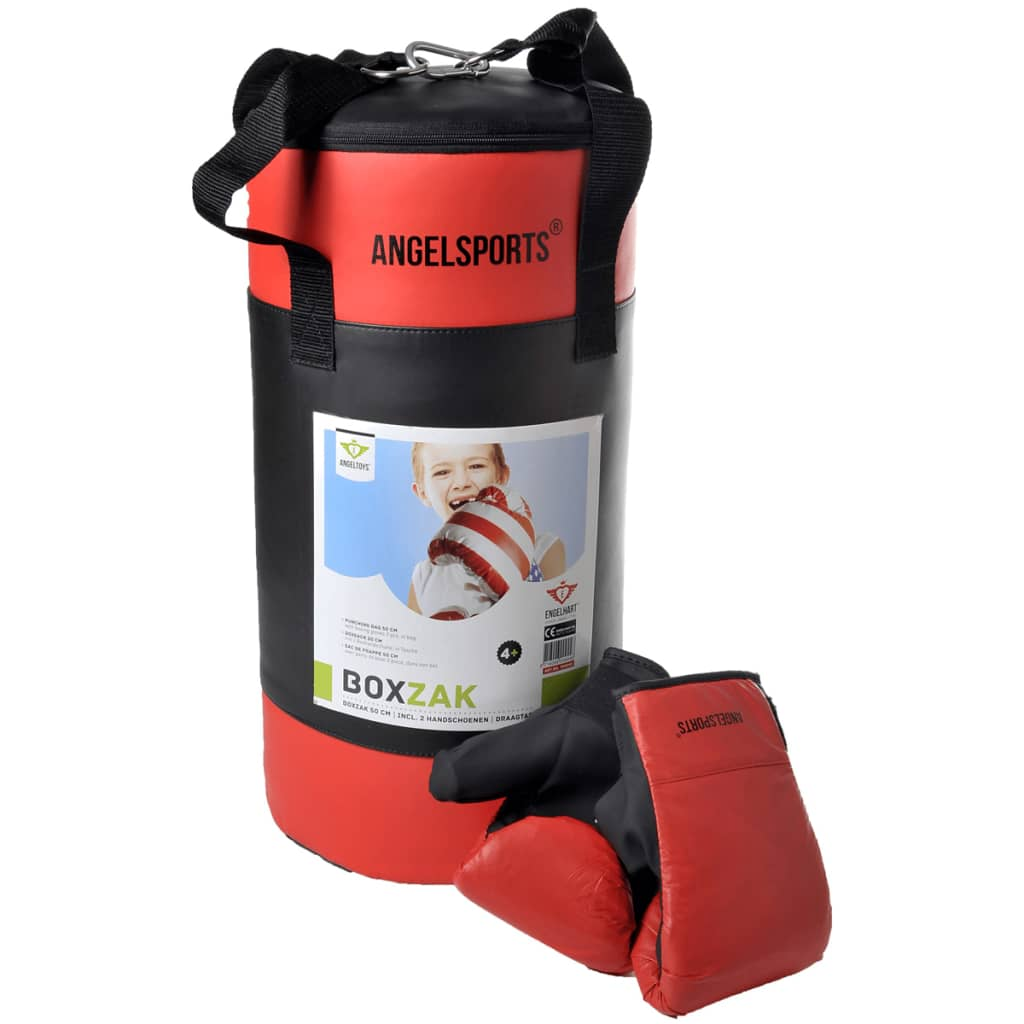 angel sports sac de frappe avec gants 704040. Black Bedroom Furniture Sets. Home Design Ideas