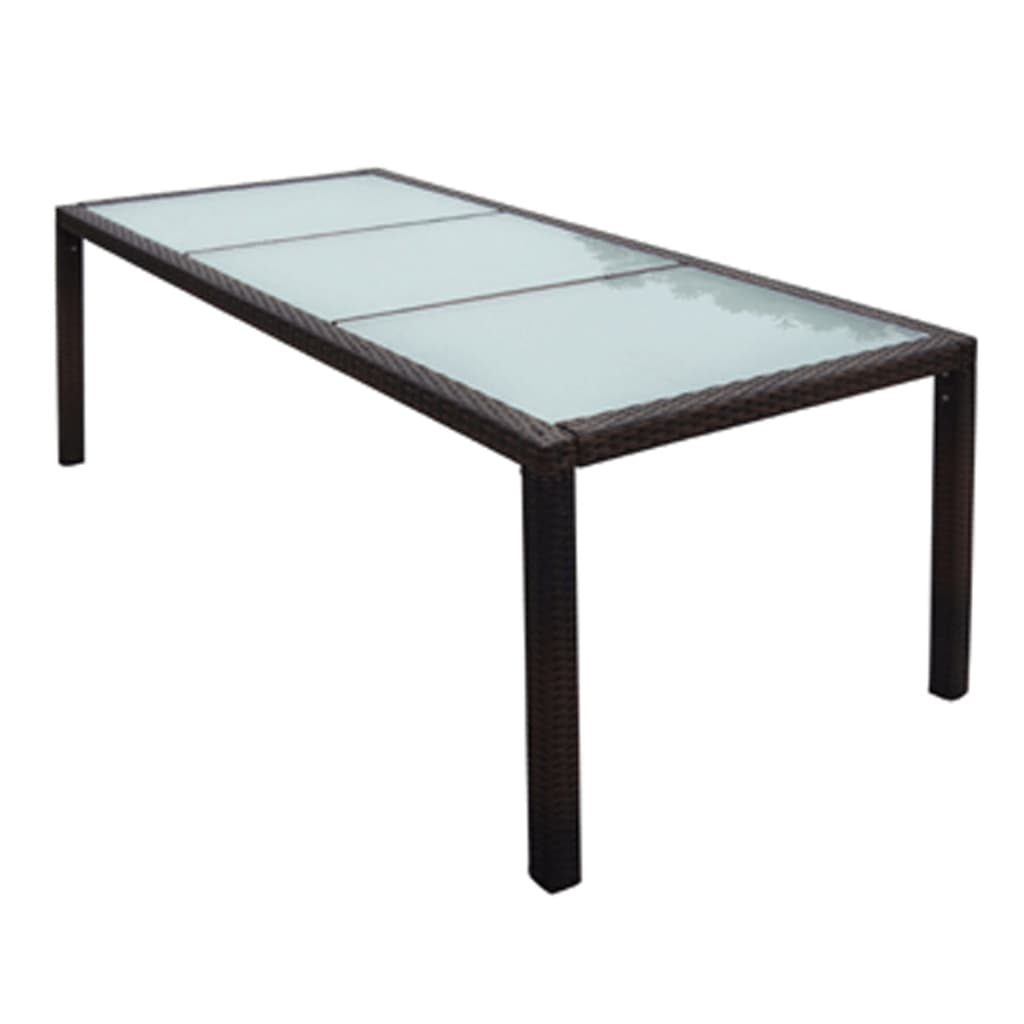 vidaxl gartenm bel set 17 tlg braun poly rattan g nstig kaufen. Black Bedroom Furniture Sets. Home Design Ideas