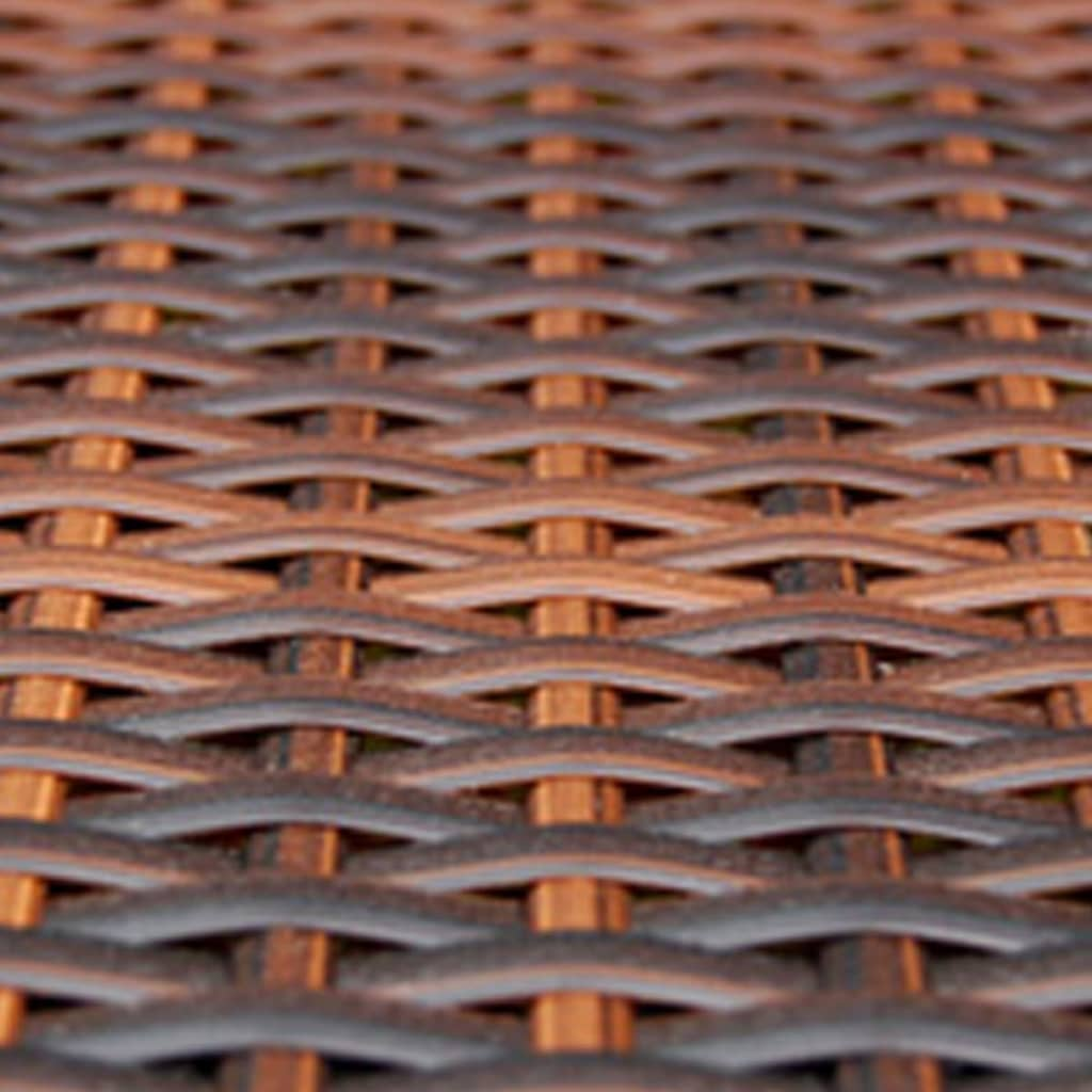 acheter vidaxl meuble de jardin 1 table et 4 chaises r sine tress e marron pas cher. Black Bedroom Furniture Sets. Home Design Ideas