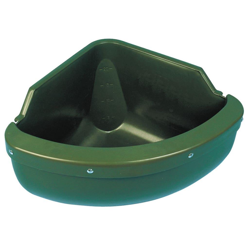 Kerbl Futtertrog Eckmodell 31 L Kunststoff Grün 32592