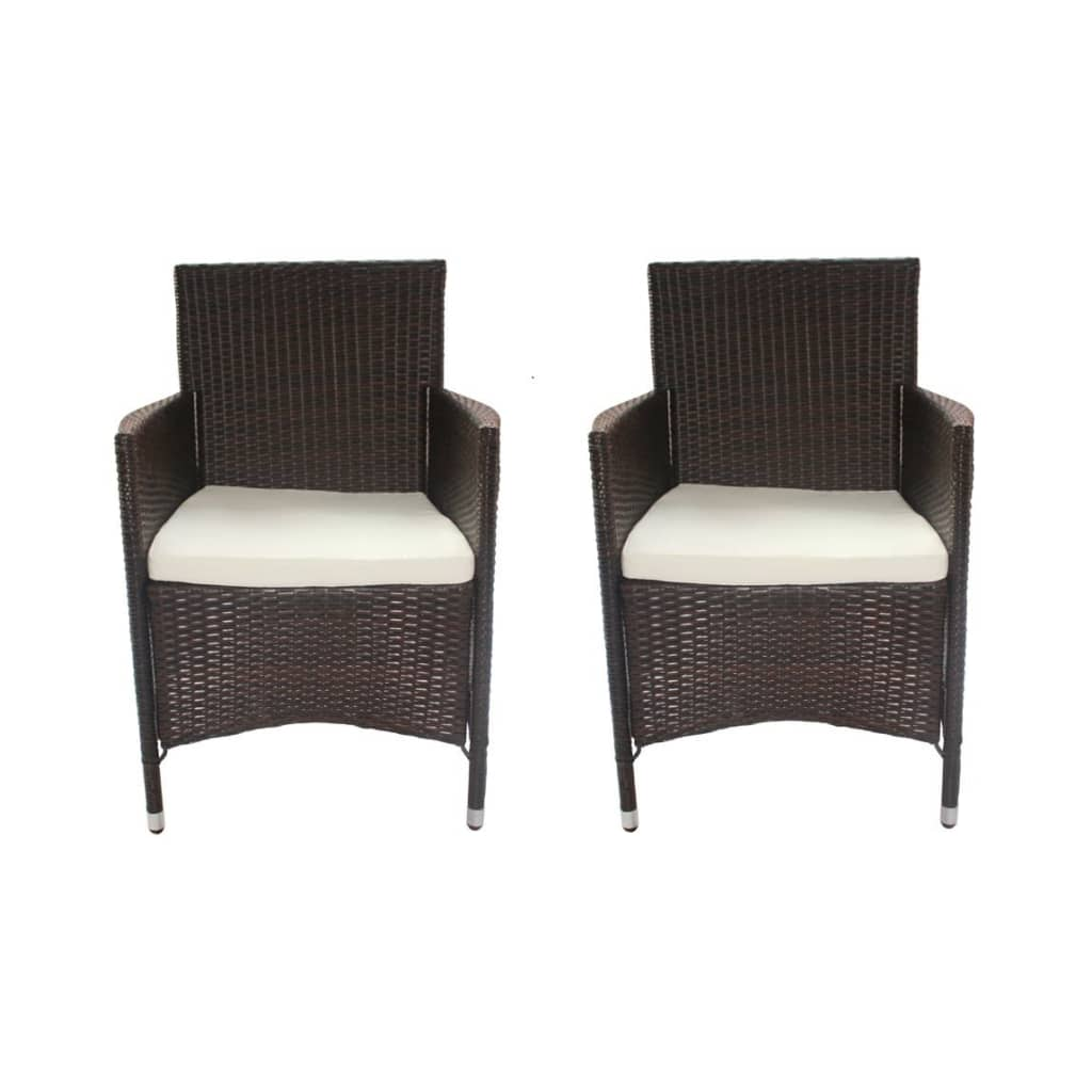 der 2 poly rattan sessel stuhl braun online shop. Black Bedroom Furniture Sets. Home Design Ideas