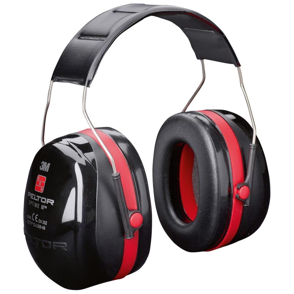 Gehörschutz Peltor Optime III Kunststoff schwarz und rot 34727