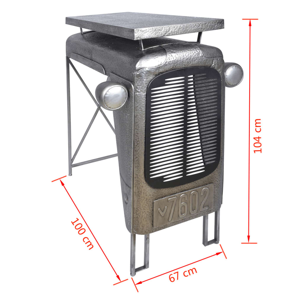 Esschert design traktortisch gartentisch grau ih032 g nstig kaufen - Gartentisch design ...
