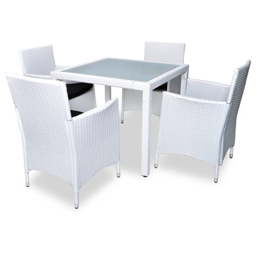 La boutique en ligne salon de jardin blanc en r sine for Table exterieur 2 places