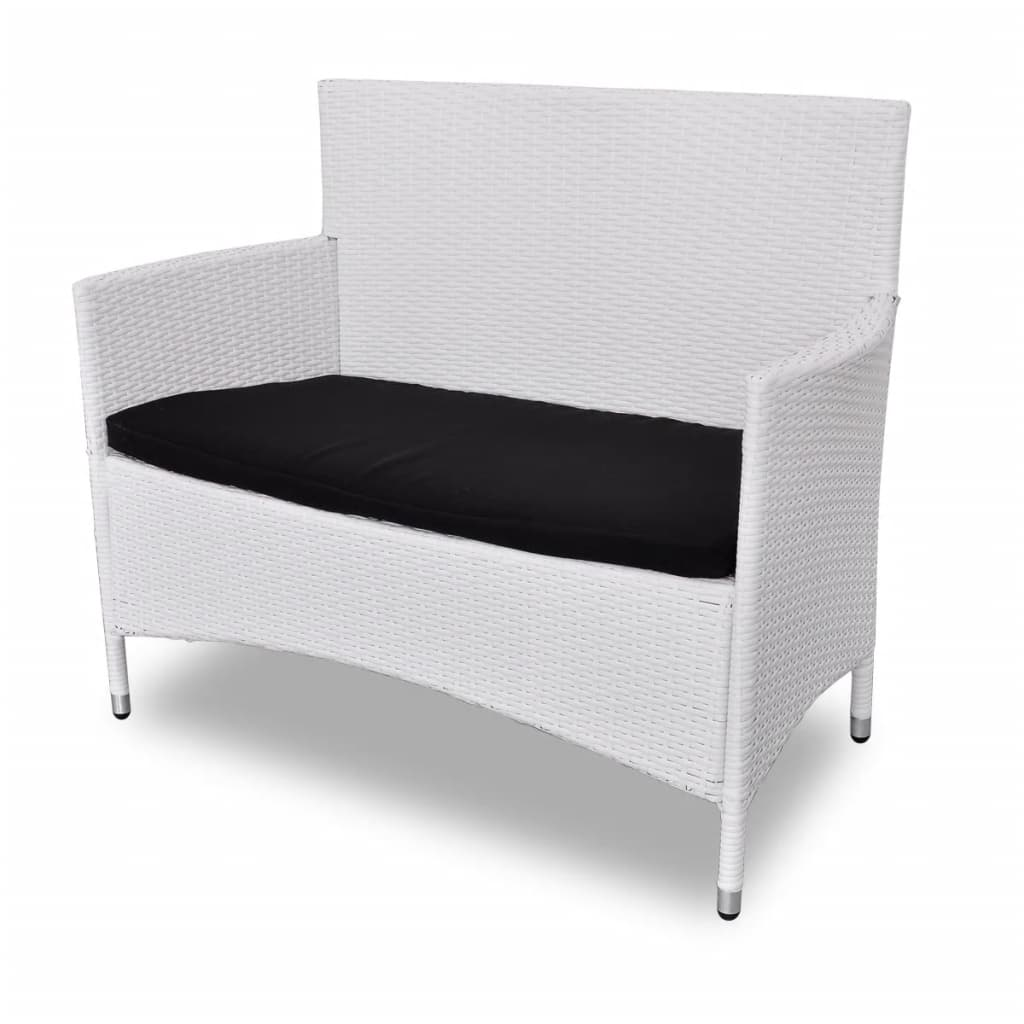 acheter vidaxl meuble de jardin r sine tress e blanc pas cher. Black Bedroom Furniture Sets. Home Design Ideas