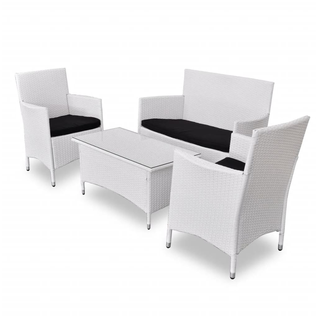 la boutique en ligne salon de jardin blanc en r sine tress e. Black Bedroom Furniture Sets. Home Design Ideas