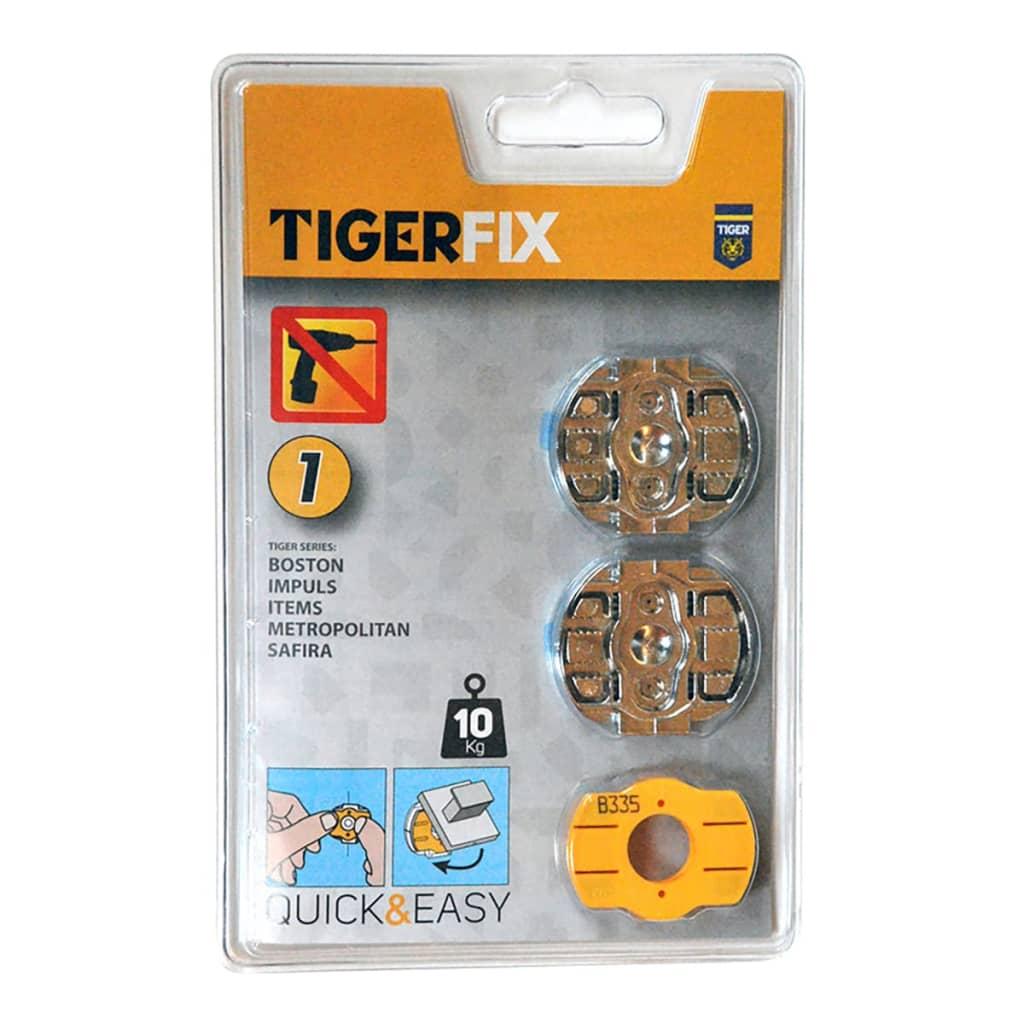 Tiger accessori di montaggio bagno tigerfix 1 metallo 398534146 - Montaggio accessori bagno ...