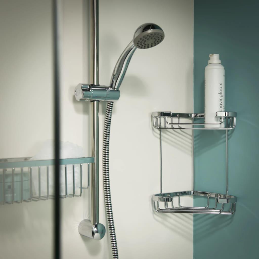 Tiger exquisit rinconera para ducha 489620342 color cromo for Tiger accesorios bano