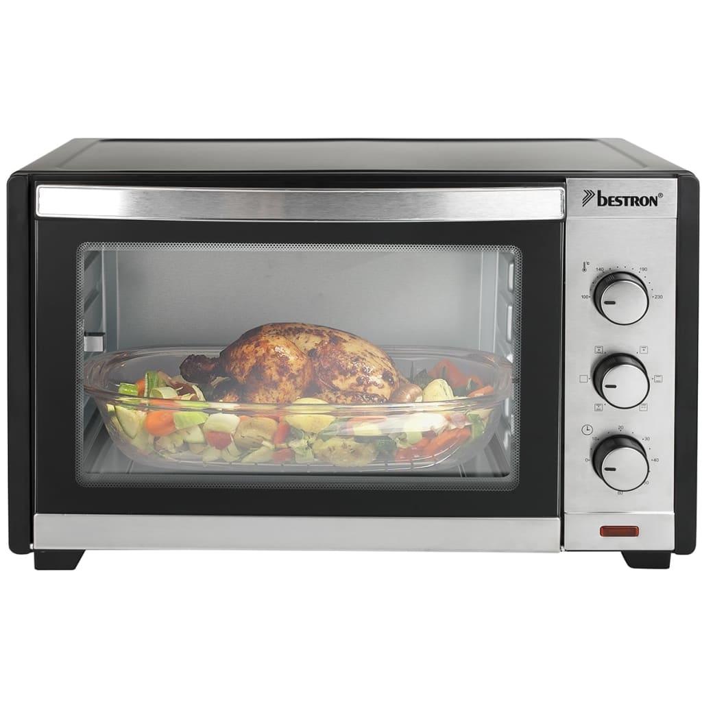 Afbeelding van Bestron grill & bakoven met draaispit en heteluchtfunctie 28 L 1600 W zwart/zilver AGL300