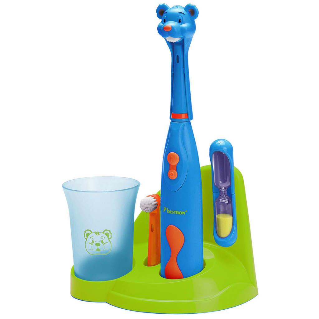 Bestron elektrische tandenborstelset voor kinderen beer DSA3500B