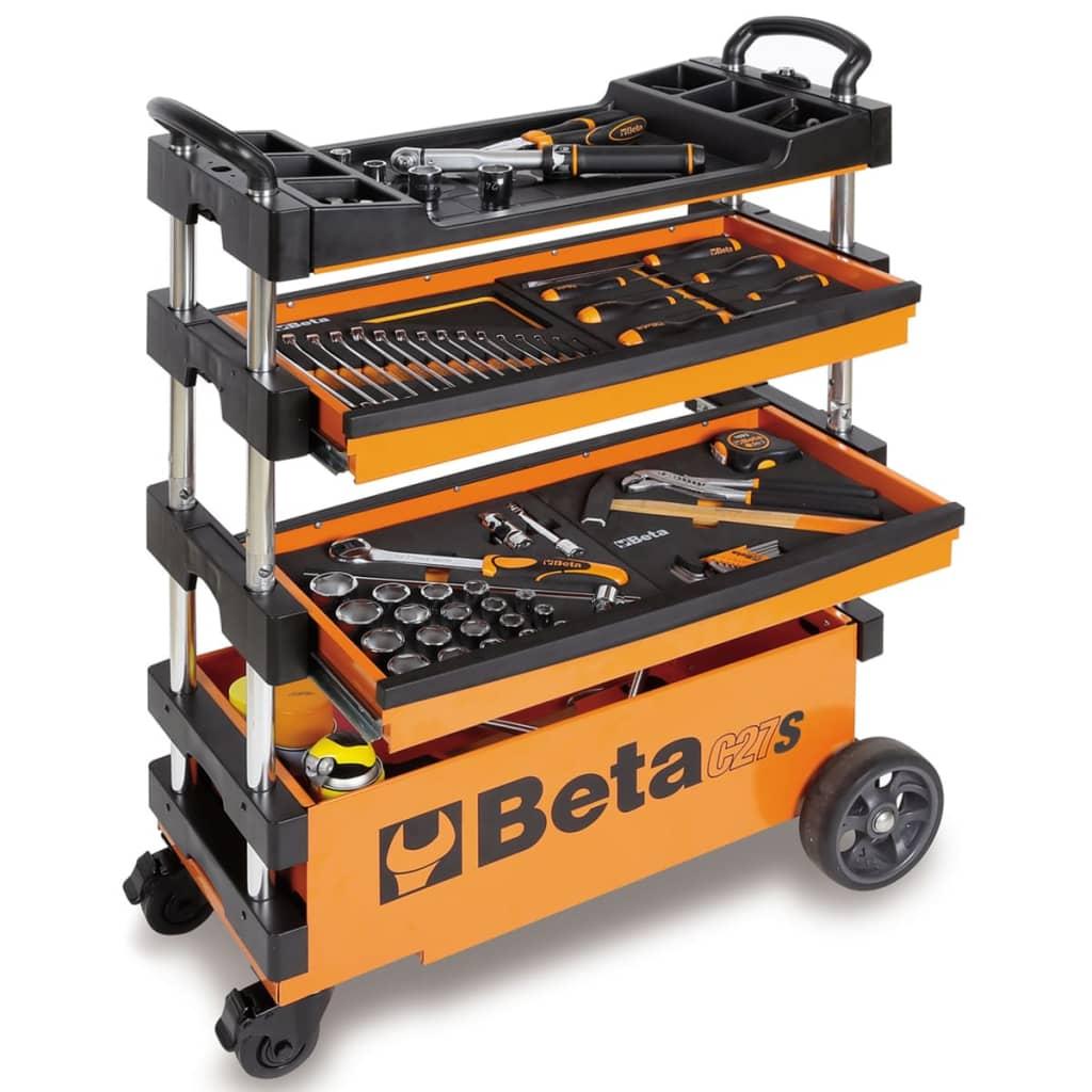 Afbeelding van Beta Tools Inklapbare gereedschapswagen C27S-O oranje staal