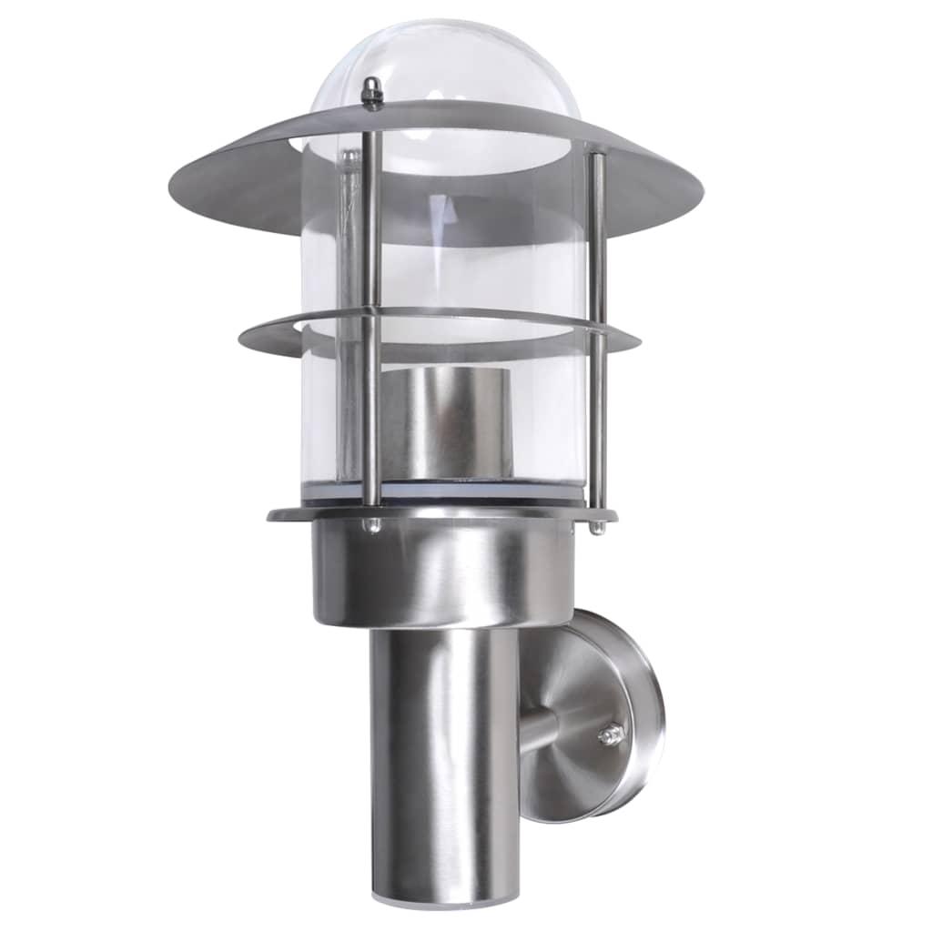 Stainless Steel Wall Lights Outside : vidaXL.co.uk Patio Wall Light Lamp Stainless Steel