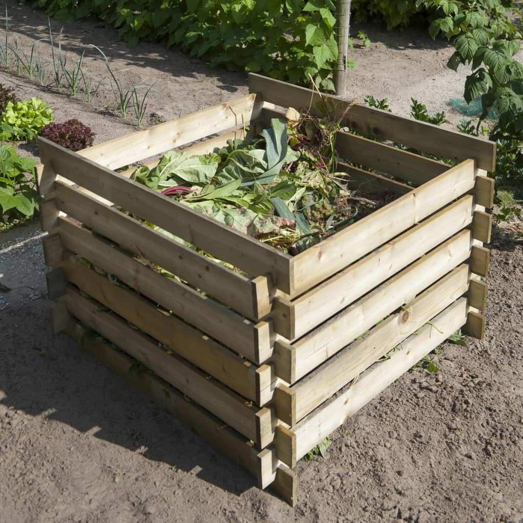 Nature Compostiera in legno giardino compost rifiuti naturali 650 L 6070480