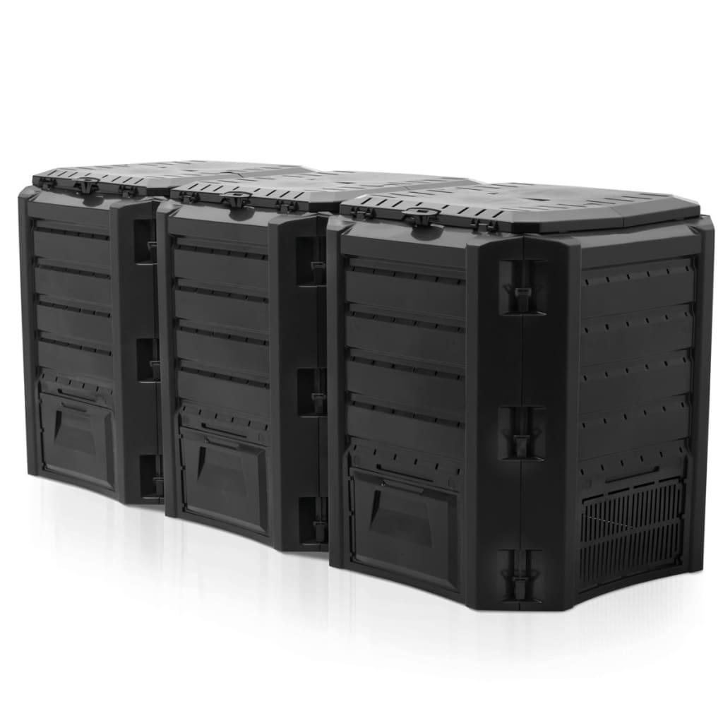 Afbeelding van Nature Compostbak zwart 1200 L