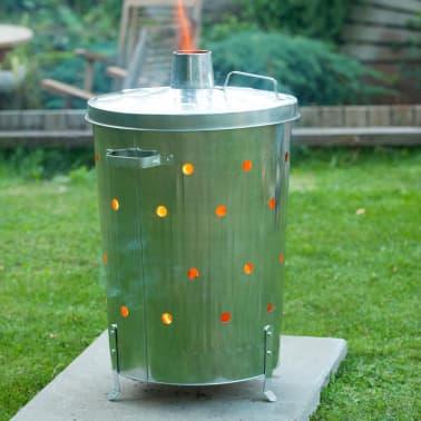 acheter nature incin rateur pour jardin acier galvanis 46 x 72 cm 6070464 pas cher. Black Bedroom Furniture Sets. Home Design Ideas