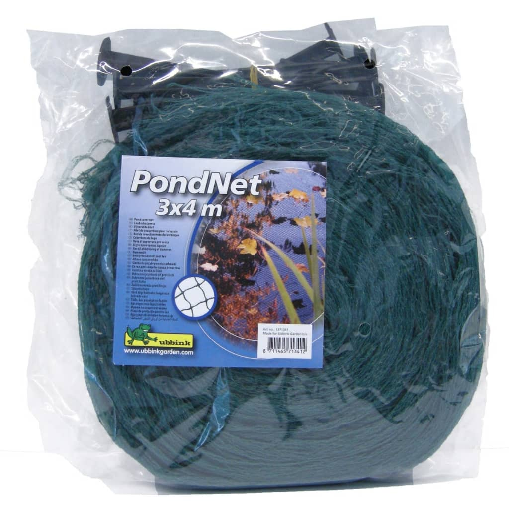 Ubbink pond cover net pe 3x4 m 1371341 for Decorative fish pond covers
