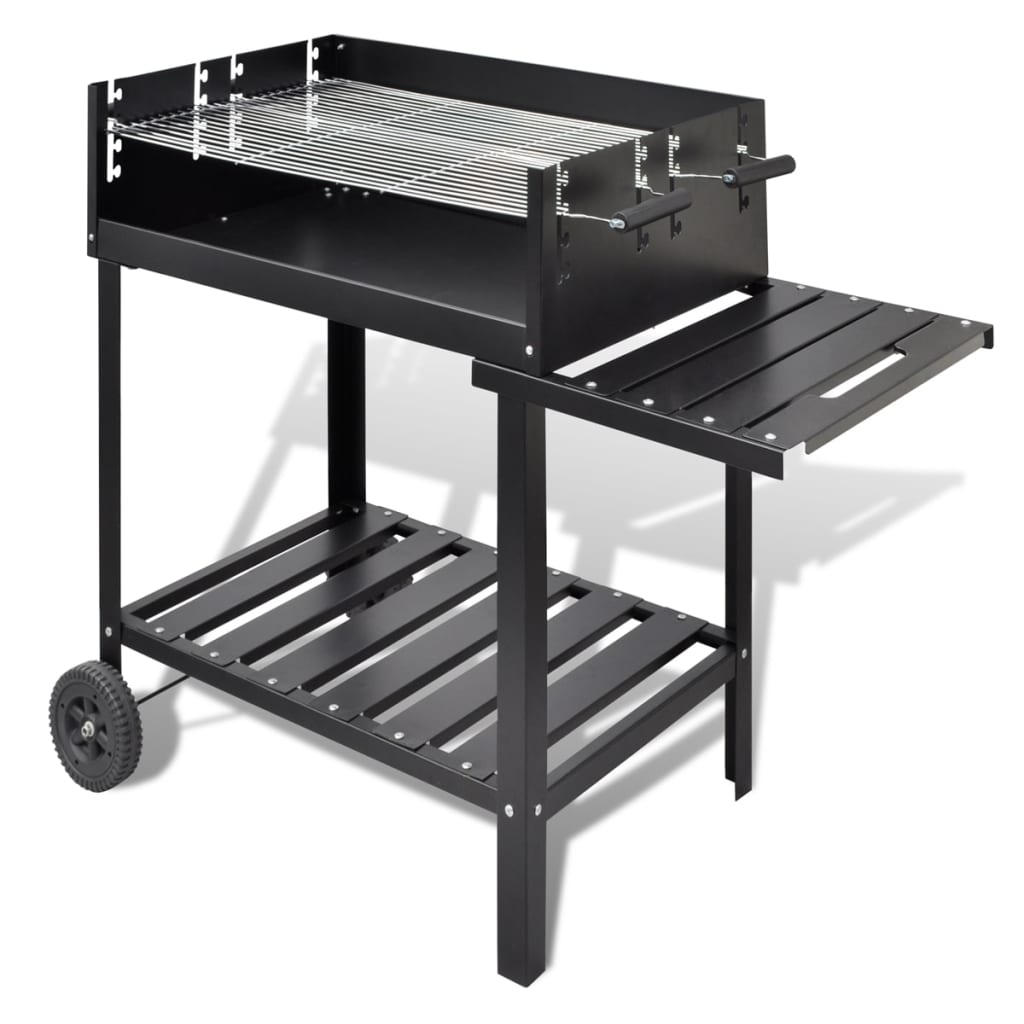 Bbq barbacoa de carb n soporte 2 ruedas tienda online for Barbacoa bbq