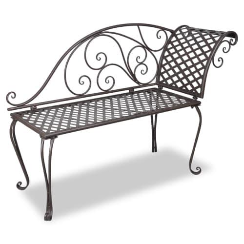 stabile garten bank metallbank eisenbank parkbank gartenm bel sitzbank neu 40717 ebay. Black Bedroom Furniture Sets. Home Design Ideas