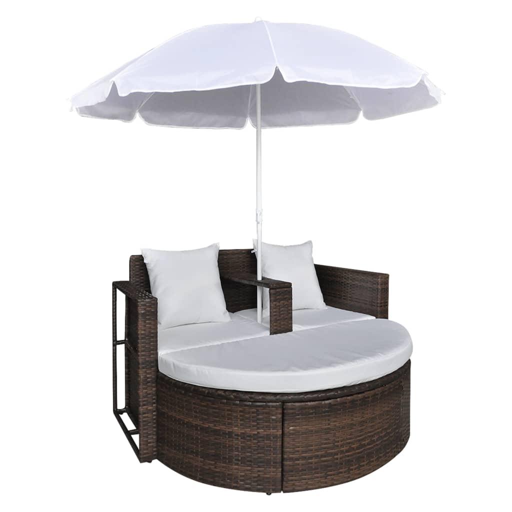 gartenlounge poly rattan lounge set gartengarnitur braun. Black Bedroom Furniture Sets. Home Design Ideas