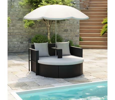 gartenlounge poly rattan lounge set gartengarnitur schwarz. Black Bedroom Furniture Sets. Home Design Ideas