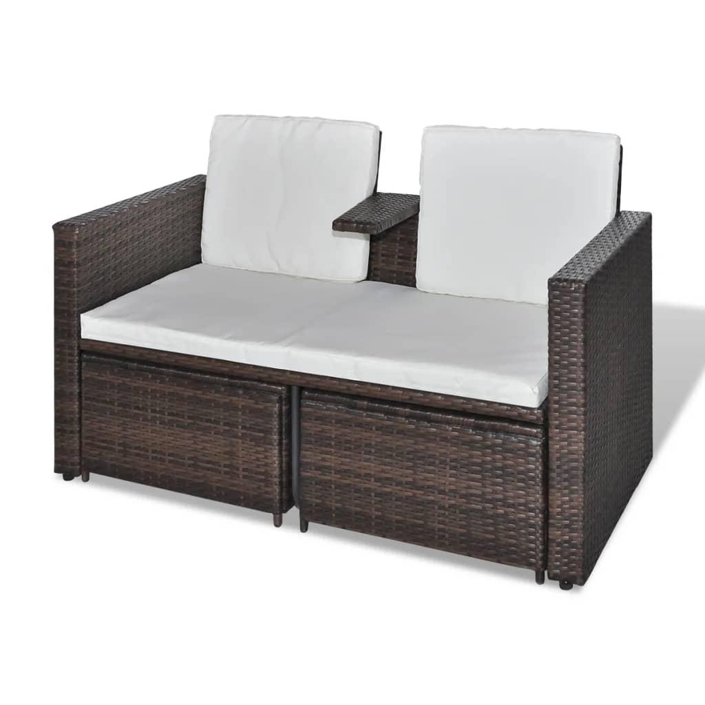 acheter vidaxl mobilier de jardin marron r sine tress e. Black Bedroom Furniture Sets. Home Design Ideas