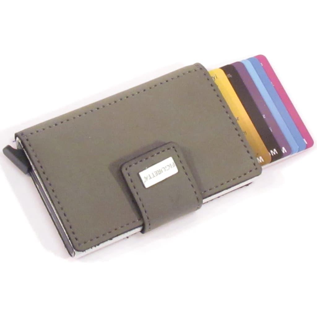 Figuretta RFID Kartenschutzhülle PU Leder Grau FCP004