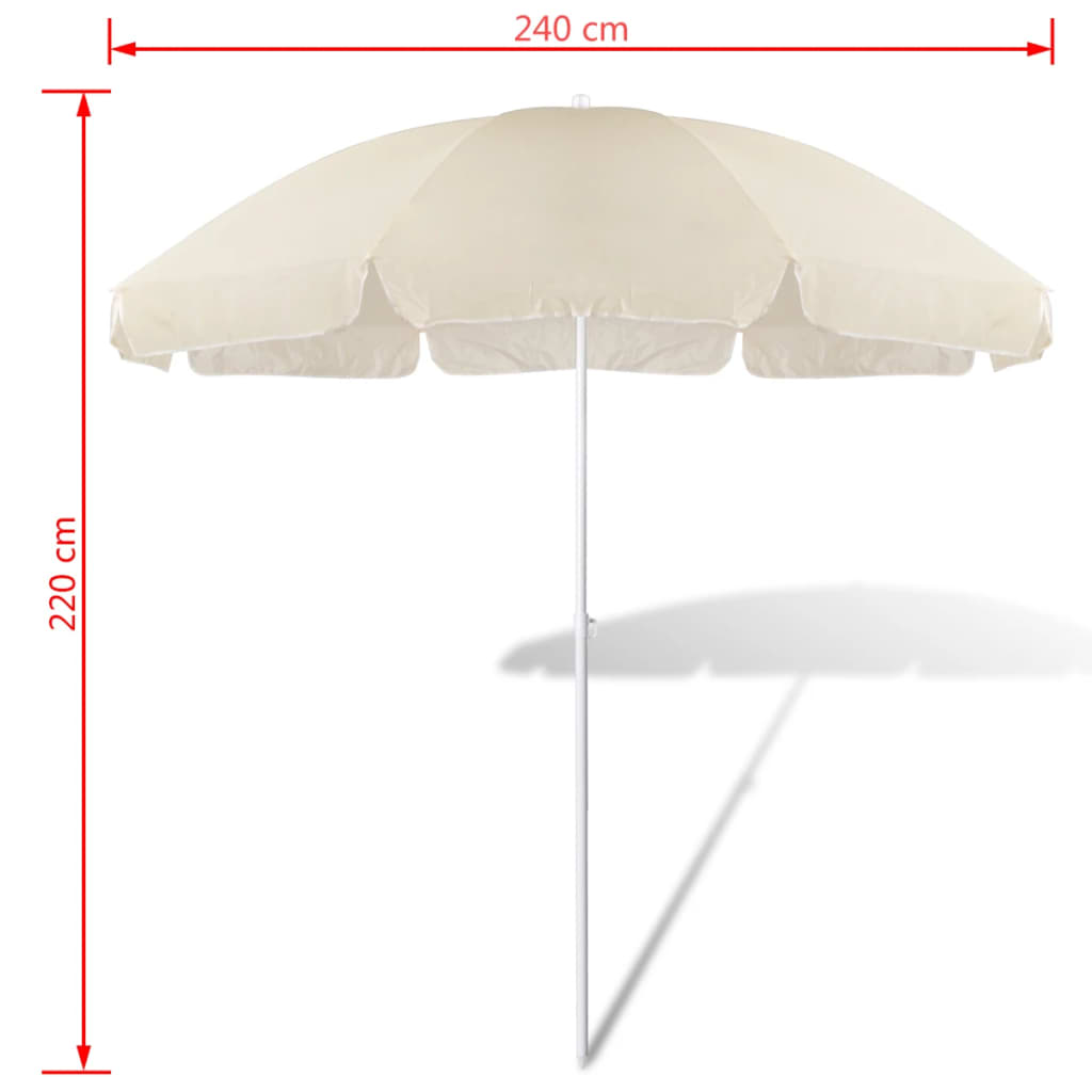 acheter 240cm parasol de plage jaune de sable pas cher. Black Bedroom Furniture Sets. Home Design Ideas
