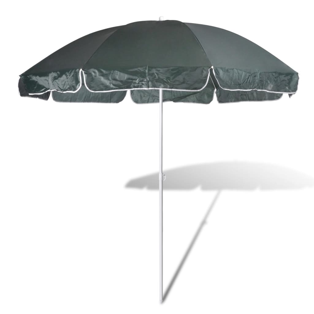 acheter 240cm parasol de plage vert pas cher. Black Bedroom Furniture Sets. Home Design Ideas