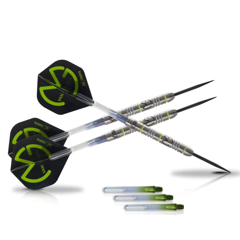 XQmax Darts QD2200020 MvG Green Demolisher 70% volfrám acél darts szett 23g
